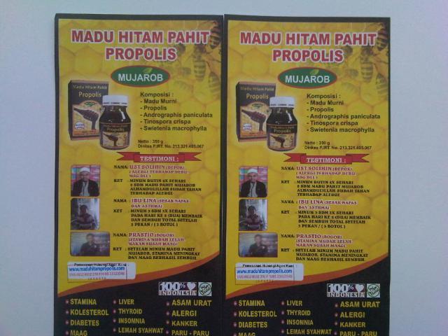 Foto: Madu Hitam Pahit Propolis Mujarob Super Quality