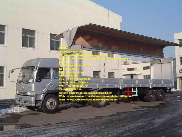 Foto: Karoseri Truck Wing Box Trailer