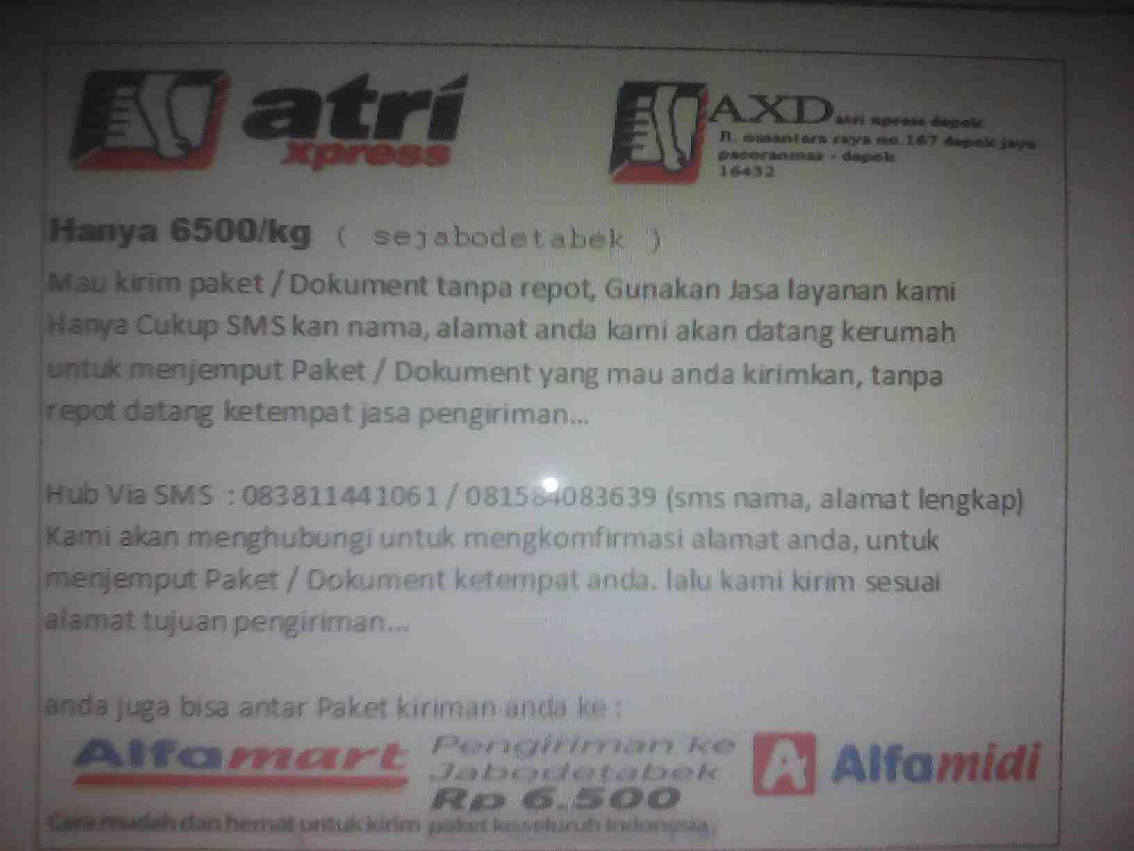 Foto: Atri Xpress Depok (AXD)