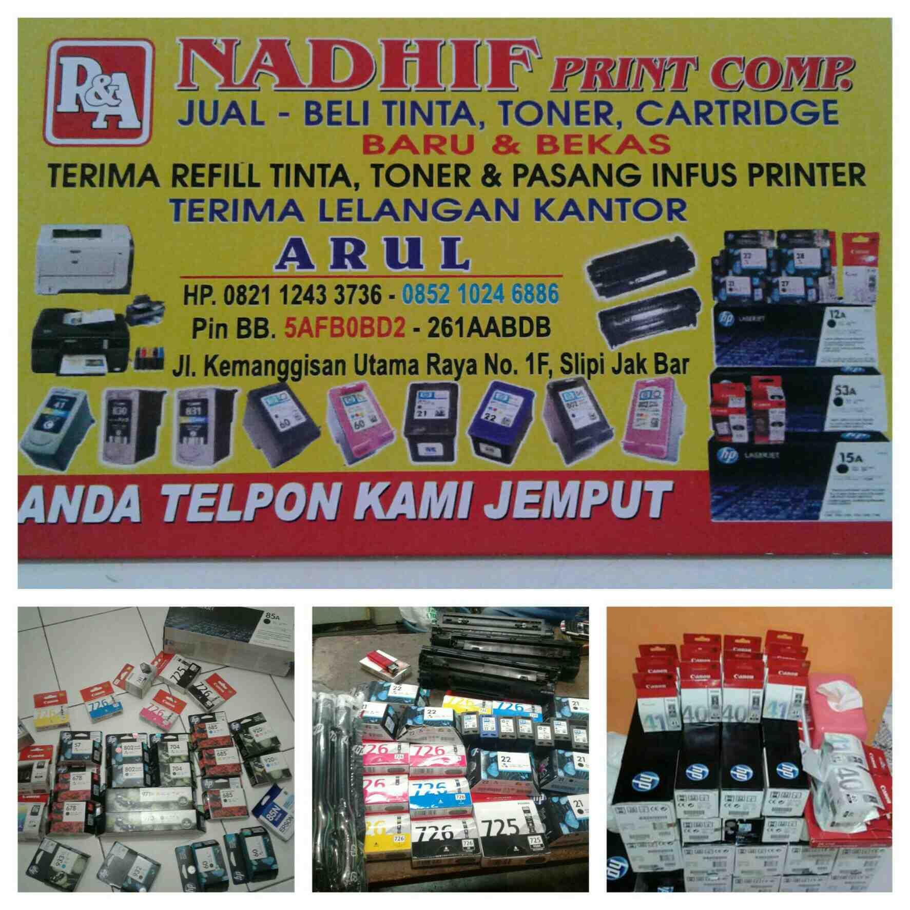 Foto: Nadhif Print Comp/jual Beli Catridge Printer Bekas & Baru
