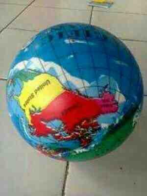 Foto: Balon Mainan Anak Dg Motif Bola Dunia