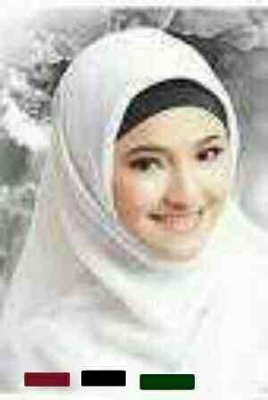Foto: Kerudung Jilbab Paris Kotak Warna Putih