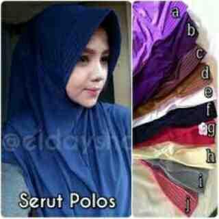 Foto: Kerudung Jilbab Hijab Serut Polos