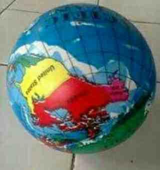 Foto: Jual Balon Mainan Anak Dg Motif Bola Dunia