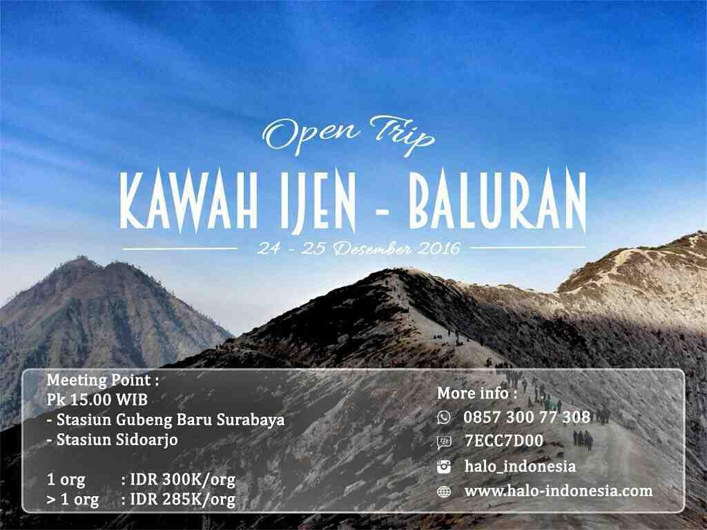 Foto: Paket Wisata Open Trip Murah Kawah Ijen – Baluran