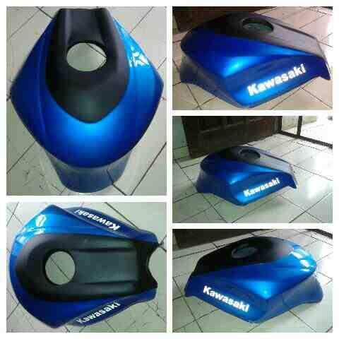 Foto: Kondom Tangki Ninja 250cc Karbu Model Tankpad