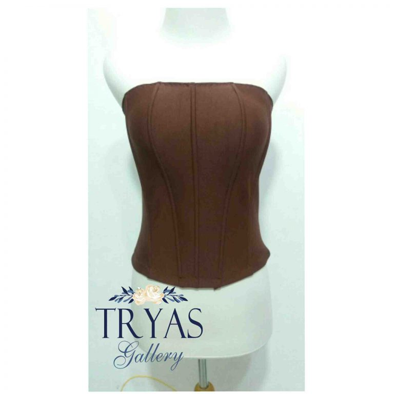 Foto: Bustier Polyester Tulang 8 Coklat