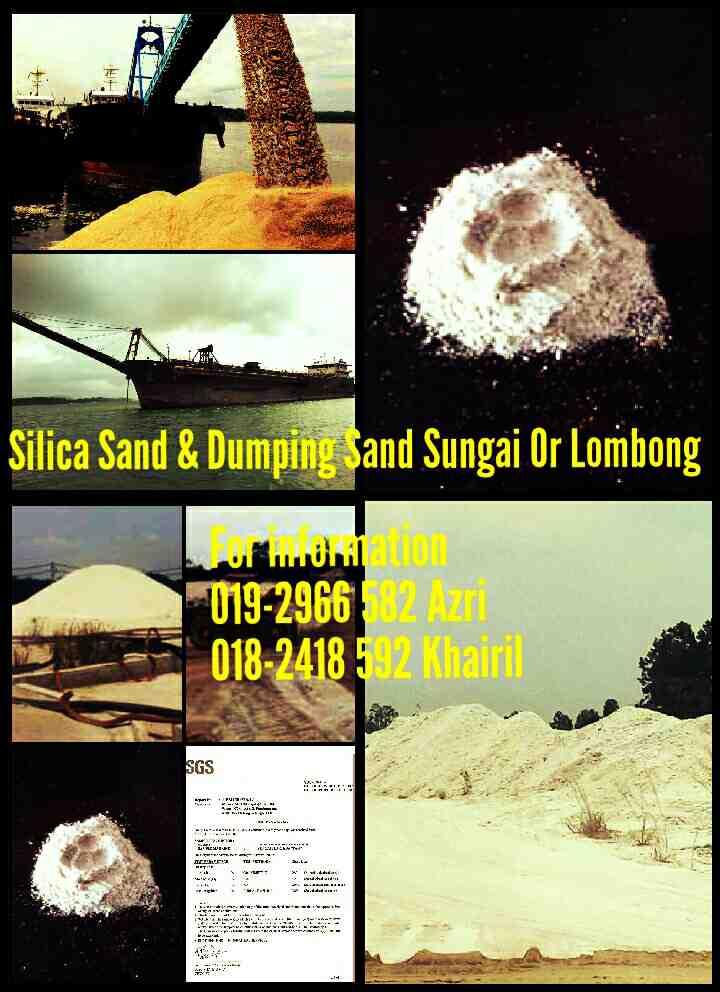 Foto: Supplier Silica Sand 99% & Dumping Sand Di Malaysia