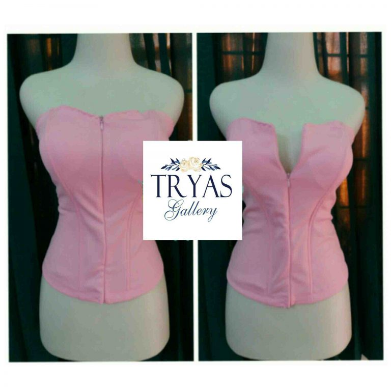 Foto: Bustier Zipper Rose Pink