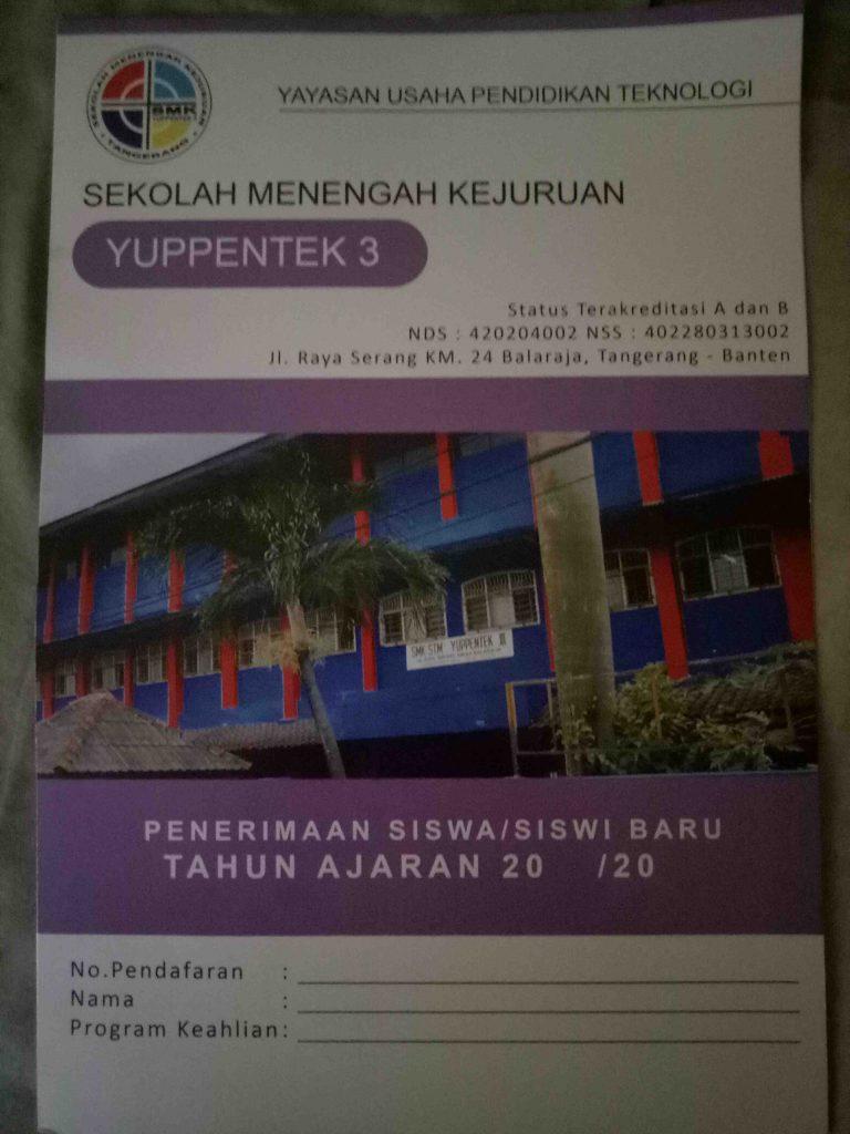 Foto: Pendaftaran Siswa Baru SMK Yuppentek 3 Kab. Tangerang