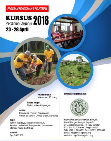 Foto: Kursus Pertanian Organik BSB Agatho Bogor Jawa Barat April 2018