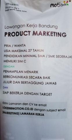 Foto: Lowongan Kerja PT. Mobile Solution – Bandung