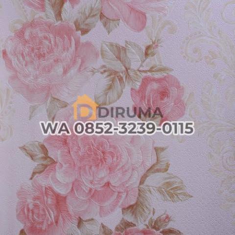 Foto: Wallpaper dinding Bunga Pink Lrz 400-5
